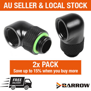 Barrow Water Cooling 2 Pack G1/4 Thread 90 Degree Rotary Elbow Adapter Fitting