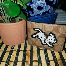 COACH DISNEY x COACH 3-IN-1 WALLET IN SIGNATURE CANVAS WITH DALMATIAN NWT  $198
