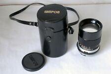 Auto Tamron 135mm 1:2.8 Lens for Topcon RE Super or DE Cameras Made in Japan