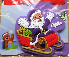 - - - - - MILKA MAGNET - Weihnachtsmann Santa Claus auf Schlitten - OVP - - - -