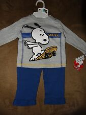 Peanuts Snoopy 2-Piece Boys' Set Shirt & Pants-Size 3-6 Months-New With Tags