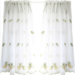 Window Sheer Curtains for Kitchen Living Room Bedroom Blackout Drapes Valance