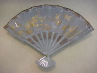 """VINTAGE HAND PAINTED ON FAN SHAPED PLATE, SIGNED BY DOROTHY HEDGES 1985, 11"""" W"""