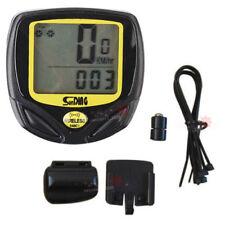 Compteurs et GPS de vélo jaune
