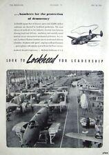 Original 1941 Lockheed 'HUDSON' RAF Bomber Airplanes Advert - WW2 Photo Print Ad