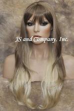 EXTRA LONG Straight Striking Light Blonde mix Wig WAMA 12-24B-613