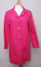 Ness women's bright fuschia pink lightweight cotton raincoat mac coat medium