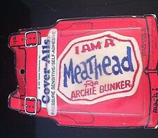 ARCHIE BUNKER ALL IN THE FAMILY MEATHEAD COVER-ALLS 1972 TANDEM CLOTH PATCH MIB