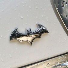Style 3D Metal Black Bat Auto Car Tail Sticker Batman Badge Emblem Decal SILVER