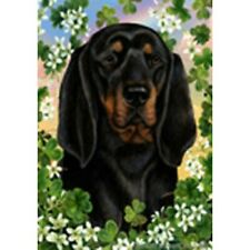 Clover House Flag - Black and Tan Coonhound 31402