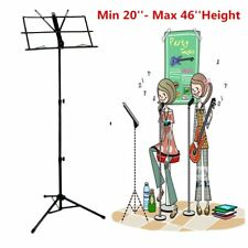 "Heavy Duty Sheet Music Metal Stand Holder Folding Foldable + Carry Bag 20"" - 26"""