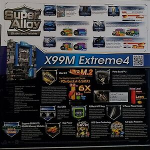ASRock X99M Extreme4 Motherboard LGA 2011-v3 Intel X99 SATA 6Gb/s