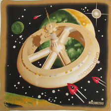 -Superbe Foulard tour de cou MOSCHINO by Larioseta  soie TBEG  vintage 2000