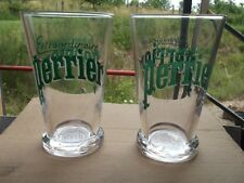 Set of 2 x Glass Perrier Extraordinaire Water Glasses