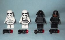 NEW LEGO 4 STAR WARS FIRST ORDER MINIFIGS: STORM TROOPERS & CREW, WEAPONS, 75132