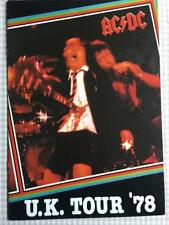 Tour Programme  AC/DC  If You Want Blood tour  1978 #2