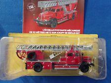 N° 66 KRUPP de BERLIN-EST Camion Pompier Echelle Pivotante 52m 1/43 Neuf Boite