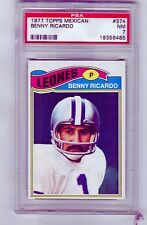 1977 Topps Mexican  # 374  BENNY RICARDO  LIons  San Diego State  PSA 7