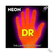 DR Strings K3 NEON Hi-Def ORANGE Electric BASS NOB6-30 30-125 Six String Set