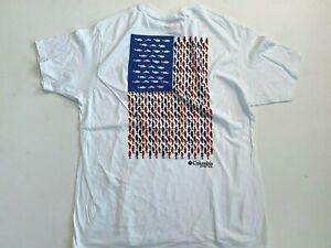 Columbia New Men's XL PFG USA Flag Fishing Graphic T-Shirt
