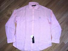 nwt  98.50$ Polo Ralph Lauren Long Sleeve 100% Linen Shirt sz XXL