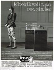 PUBLICITE ADVERTISING 0105  1991  Les MAGASINS dépot-vente TROC DE L'ILE