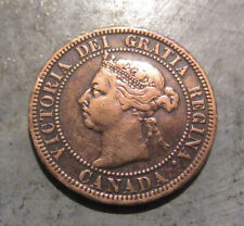 1891 Canadian Large Cent, Nice Coin