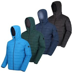 Regatta Helfa Mens Padded Water Repellent Quilted Hooded Padded Jacket RRP £50