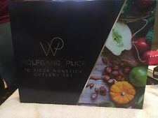 Wolfgang Puck Bistro Elite 10 piece Colored Nonstick Cutlery Knife Set gift box