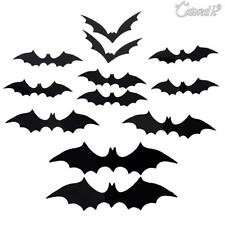 12x Halloween Party Decoration props 3D Bat vampire Wall window Stickers PVC