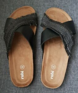Size 42 Black Womens Slides By Cotton On