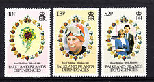 FALKLAND ISLANDS Sc# 1L59-1L61 ROYAL WEDDING CHARLES- DIANA 1981 MNH OG   C541
