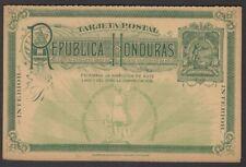 Honduras 1891 Columbus sighting Honduras 2c+2c reply postal card unused HG #15