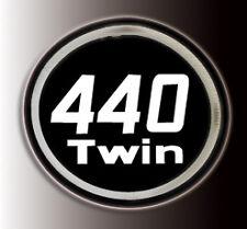 MASSEY FERGUSON SKI-WHIZ EMBLEM DECAL 440 TWIN ROUND BADGE DECAL GRAPHIC