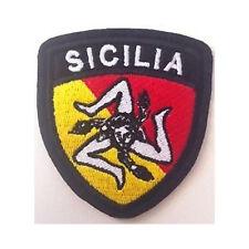 [Patch] SICILIA TRINACRIA STILE AERONAUTICA SCUDETTO cm 6x7 toppa ricamata -332
