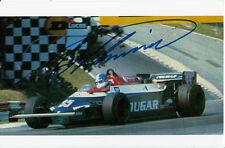 Derek WARWICK mano firmato Formula 1 foto 9x6.