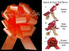 "20 PULL BOWS PER COLOR 5"" BASKET PARTY BALLOON GIFT DECORATIONS WEDDING PEW CAKE"
