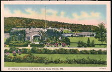 CASCADE MD Camp Ritchie Officers Quarters Club Postcard