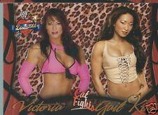 Gail Kim & Victoria Divas 2005 Cat Fights Trading Card #62 WWE WWF TNA Knockout
