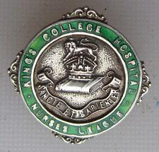 More details for nurses badges x2 hospital badge ,kings college hospital badge silver hm + gnc