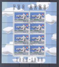 Schweiz  Michel Nr. 1369.  50 Jahre Pro Aero Kleinbogen gestempelt.