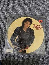 Michael Jackson Lp SEALED Bad 1987 Original Yellow Press Picture Disc Promo Cop