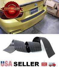 "35"" Black Rear Bumper Rubber Guard Cover Sill Plate Protector For BMW AUDI"