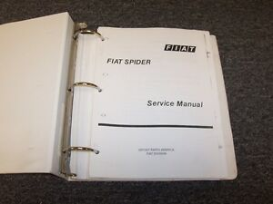 Repair Manuals Literature For 1981 Fiat 124 For Sale Ebay