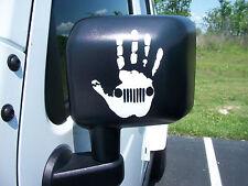 Hand Wave Jeep DECAL Mirror Fender Window Jeep Wrangler TJ YJ LJ JK
