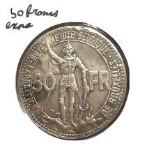 50 Francs Expositions Des Chemins De Fer 1935 Belgique En Argent