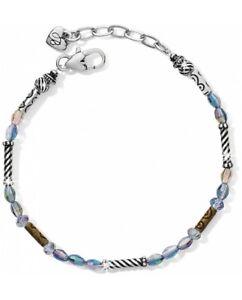 NWT Brighton GLEAM VERDE Aurora Borealis Crystal Bead Silver Bracelet MSRP $42