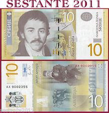 SERBIA  -   10 DINARA 2011   ---  Prefix  AA  ---  P 54a  -   FDS / UNC