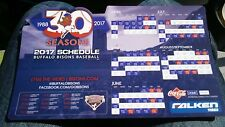 NEW! BUFFALO BISONS 2017 Magnetic and Pocket Schedule, Magnet, Toronto Blue Jays