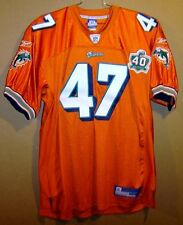 MIAMI DOLPHINS #47 SULLIVAN NFL ORANGE JERSEY WITH 40th ANNIVERSARY PATCH